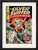 Marvel Comics Retro: Silver Surfer Comic Book Cover 18, Against the Unbeatable Inhumans! (aged) Posters