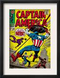 Marvel Comics Retro: Captain America Comic Book Cover 105, Batroc (aged) Print