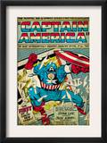 Marvel Comics Retro: Captain America Comic Panel; Smashing through Window (aged) Prints