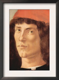 Portrait of a Young Man with Red Cap Posters by Sandro Botticelli