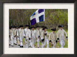 French Army Reenactors March to the Surrender Ceremony at Yorktown Battlefield, Virginia Posters
