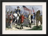 General Lincoln Receiving Lord Cornwallis's Sword from British General O'Hara, c.1781 Posters