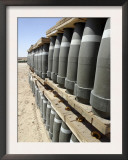 Al Asad, Iraq, Rows of Ammunition are Stacked and Prepped to be Moved into Modular Storage Cells Print by  Stocktrek Images