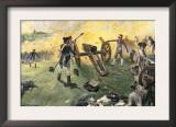 American Artillery Engaged at the Battle of Monmouth, New Jersey, c.1778 Prints