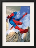 Spider-Man Swinging In the City Posters
