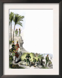 Mexican Troops on the March during the U.S.-Mexican War, c.1840 Print