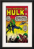 Marvel Comics Retro: The Incredible Hulk Comic Book Cover 3 (aged) Posters