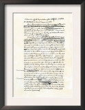 Draft of the Declaration of Independence in Jefferson's Handwriting, Page 1 Posters
