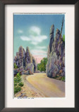 Custer State Park, South Dakota - Needles Highway View of the Pinnacles, c.1935 Poster