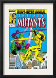 New Mutants Annual 3 Cover: Impossible Man and Warlock Posters by Alan Davis