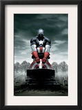 Captain America 4 Cover: Captain America Prints by Steve Epting