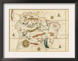 Map of South America from the Spanish Atlas Executed at Messina in 1582 by Joan Martines Prints