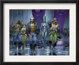 New X-Men 152 Group: Wolverine, Beak, Nova, Cassandra and E.V.A. Poster by Marc Silvestri