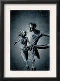 Marvek Knights 4 28 Cover: Mr. Fantastic and Invisible Woman Prints by David Aja