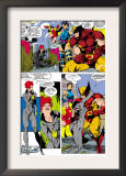 Uncanny X-Men 268 Group: Black Widow, Wolverine, Psylocke and Jubilee Prints by Jim Lee