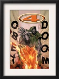 Marvel Knights 4 17 Cover: Dr. Doom and Human Torch Flying Prints by Jim Muniz