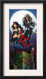 Ultimate Spider-Man 52 Cover: Spider-Man, Elektra and Black Cat Posters by Mark Bagley