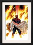 X-Men: Phoenix - Endsong 4 Cover: Cyclops and Emma Frost Prints by Greg Land