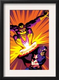 Captain America V4, 30 Cover: Captain America and Batroc The Leaper Prints by Dave Johnson
