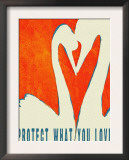 Protect What You Love - Two Swans Prints by Lisa Weedn