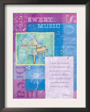 Sweet Music Poster by Flavia Weedn