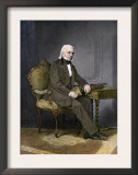 President James K. Polk at His Desk Prints