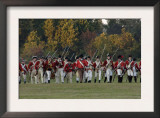 British Sortie Reenactment at Yorktown Battlefield, Virginia Art