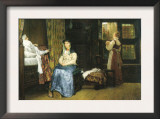 A Birth Chamber, Seventeenth Century Prints by Sir Lawrence Alma-Tadema