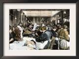 Women Garment Workers in the Dressmaking Department of a Factory, About 1890 Prints