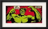 Marvel Comics Retro: The Incredible Hulk Comic Panel (aged) Prints