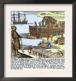 Cod Fishermen Drying and Salting Fish on the Newfoundland Coast, c.1700 Art