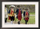 Rochambeau and Other French Officer Reenactors March to the Surrender Ceremony at Yorktown Poster