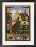 Angers, France - View of the Butcher's, Paris and Orleans Railway Postcard, c.1920 Prints