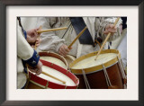 French Army Drummers at a Reenactment of the Surrender at Yorktown Battlefield, Virginia Posters