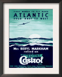 First Woman to Fly North Atlantic Solo/Castrol Posters