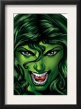 She-Hulk 25 Cover: She-Hulk Prints by Shawn Moll