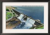 Texas - Aerial View of Morris Sheppard Dam and Possum Kingdom Lake Near Mineral Wells, c.1942 Print