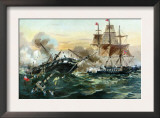 Naval Duel Between the Frigate USS Constitution and the British Ship Guerriere, War of 1812 Prints