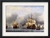 Sea Fight Between England and Holland during the Dutch War, June 1666 Posters