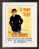 WWII US Navy Recruiting Poster Prints
