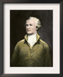 Alexander Hamilton, with His Autograph Prints