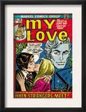 Marvel Comics Retro: My Love Comic Book Cover 20, Kissing, When Strangers meet! (aged) Art