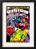 Vision And The Scarlet Witch 3 Cover: Grim Reaper, Wonder Man, Vision and Scarlet Witch Posters by Rick Leonardi