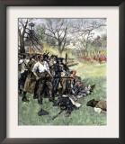 Minutemen at Lexington Green, April 1775 Poster