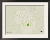 Political Map of Kingstree, SC Prints