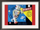 Robot with Flashing Lighted Eyes Print