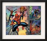 Spider-Man Family 1 Cover: Spider-Girl, Spider-Man, Arana and Spider Woman Fighting Posters by Ron Lim