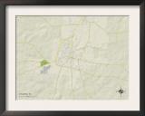 Political Map of Atlanta, TX Posters