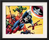Fallen Son: The Death Of Captain America5 Group: Captain America Prints by John Cassaday