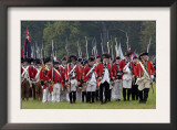 British Army Marches Onto the Field in a Reenactment of the Surrender at Yorktown Battlefield Poster